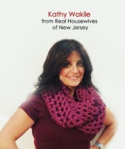 Kathy Wakile in her Midwest Crochet Oversized Infinity Scarf