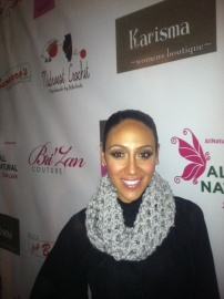 Melissa Gorga in her Midwest Crochet Cowl