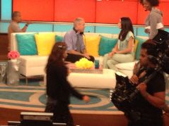 Terence & Bethenny on the set